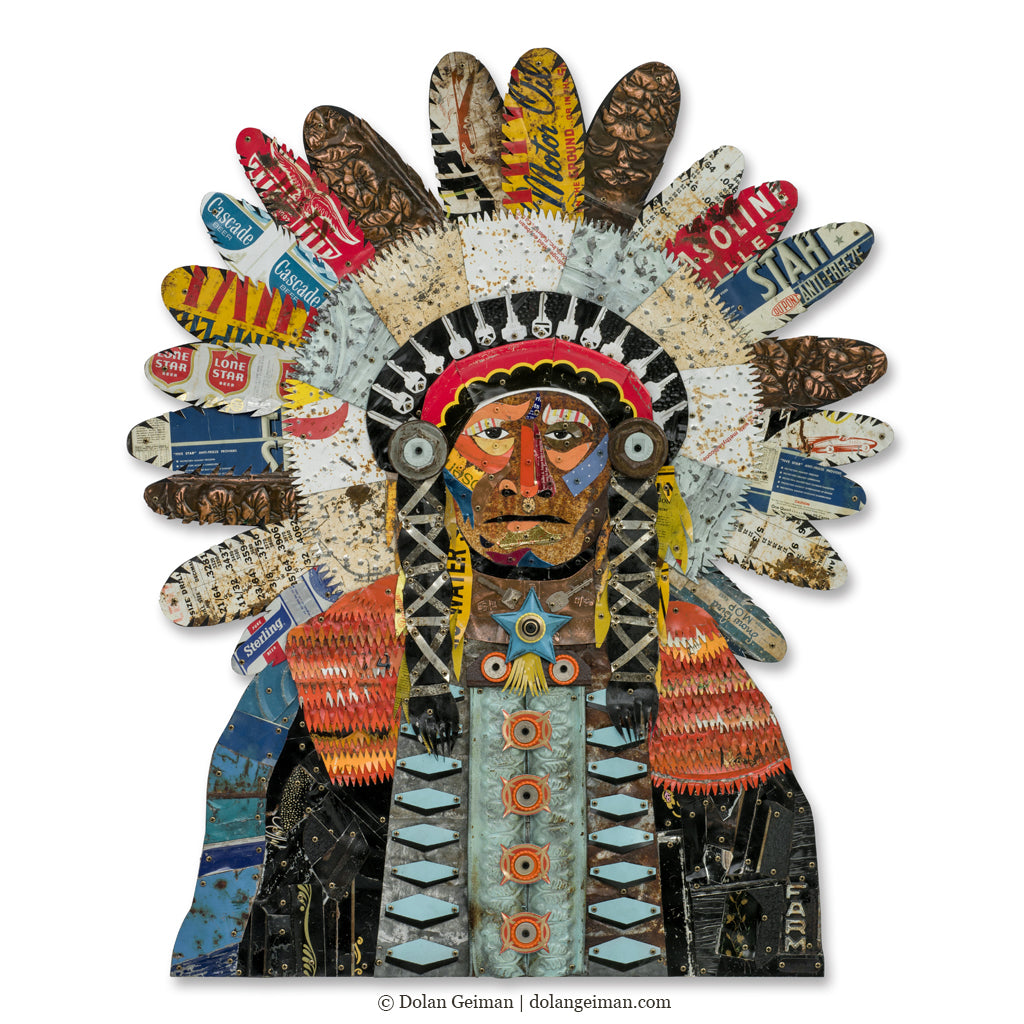 American Heritage Chief Metal Wall Sculpture