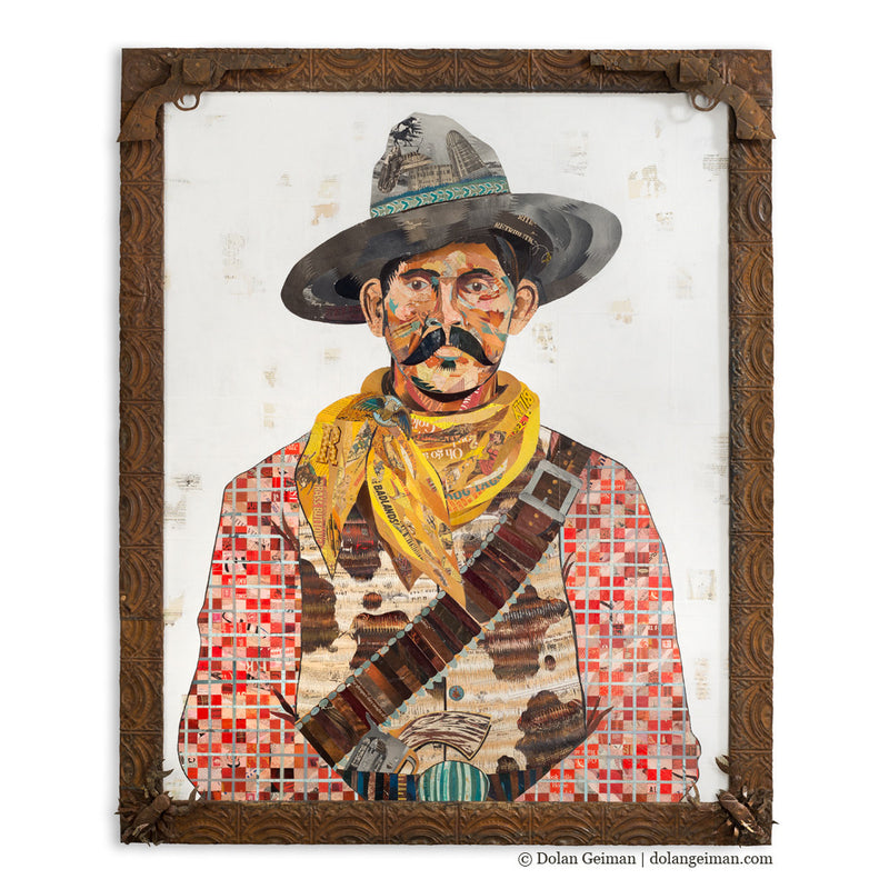 main image for American Heritage Western Cowboy Paper Collage Art