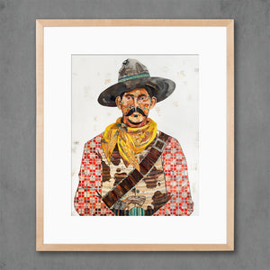 thumbnail for Cowboy (Red) Art Print