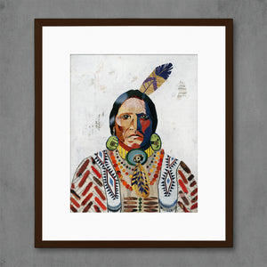 thumbnail for American Heritage Warrior Native American Art Print