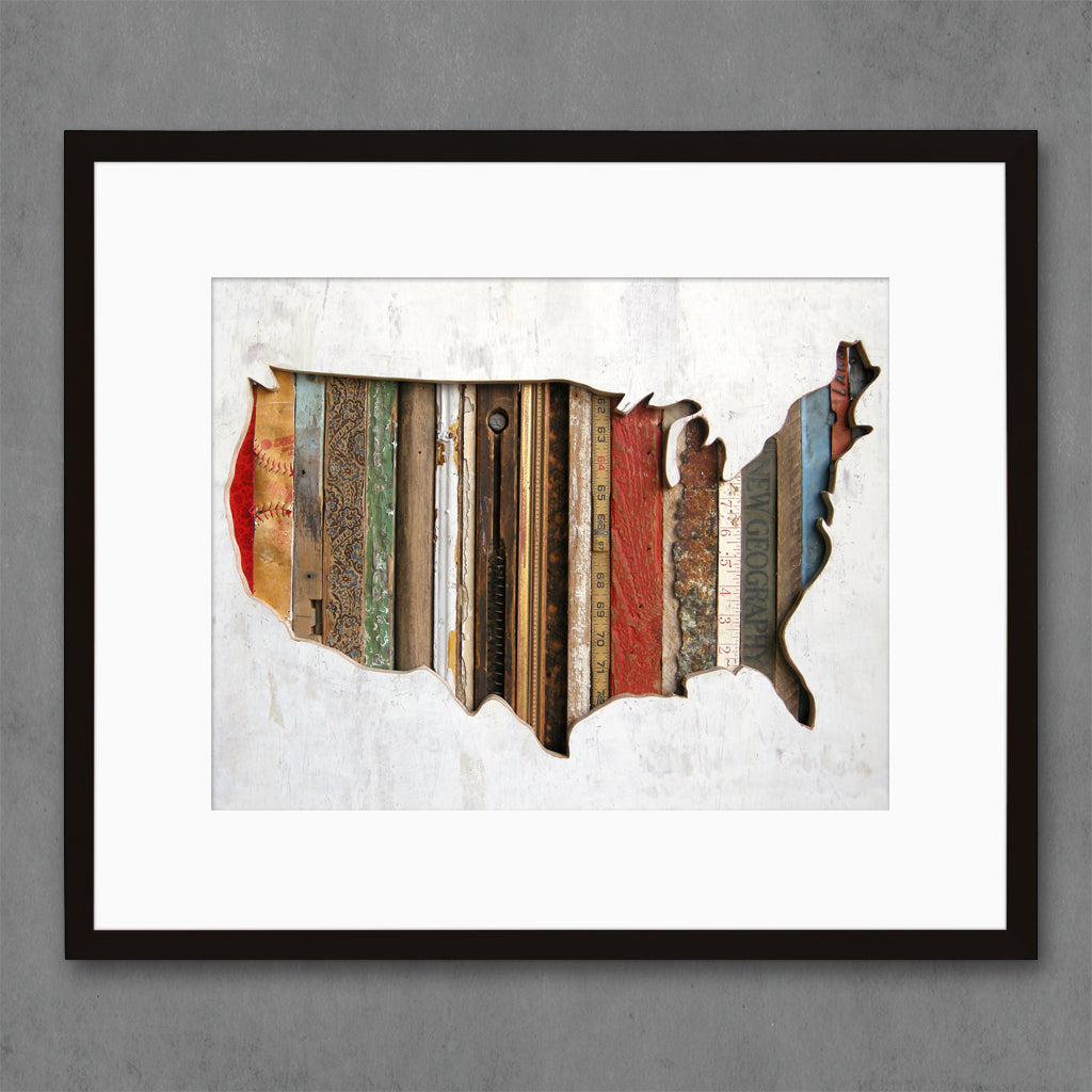 American Souvenir USA Map Art Print