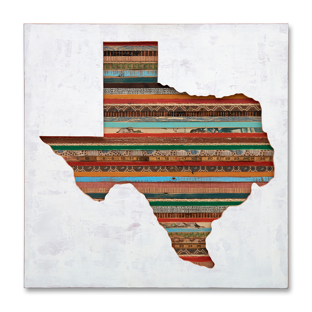Texas Silhouette Custom State Map Art