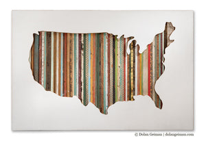 thumbnail for American Souvenir Mixed Media US Map Silhouette