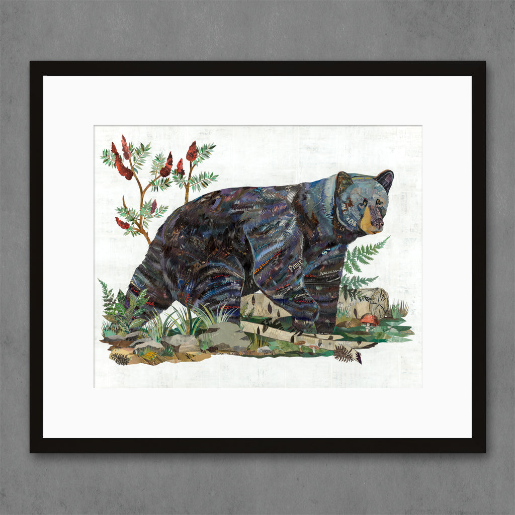 Bear with Sumac Art Print