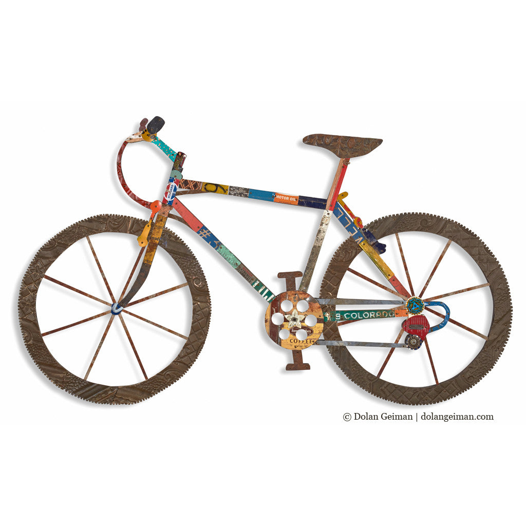 Bike Wall Art mountain bike wall art sculpture | dolan geiman