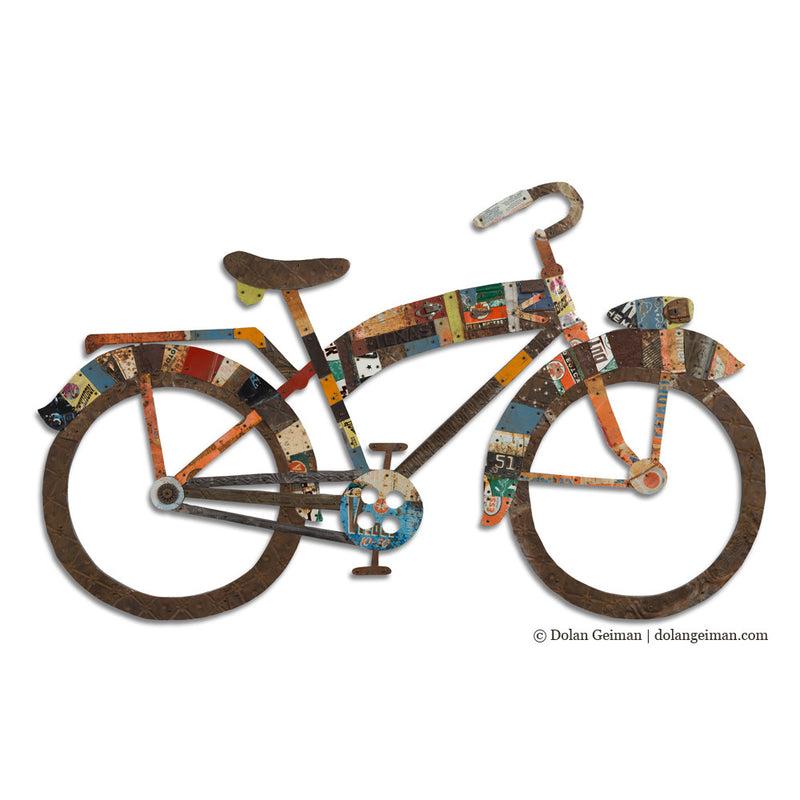 main image for Industrial Bike Wall Art Sculpture