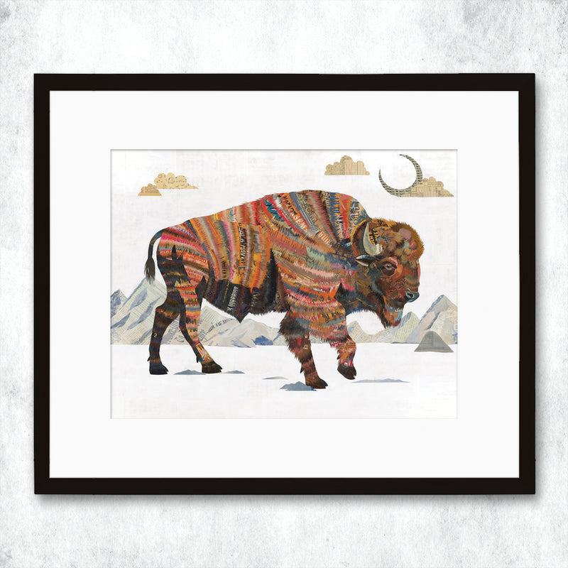 main image for WHSL - Bison Rest Not Western Herald Art Print