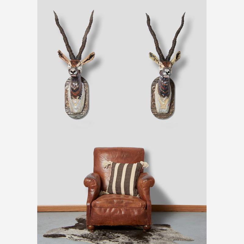 main image for Black Buck Faux Taxidermy Metal Wall Sculptures