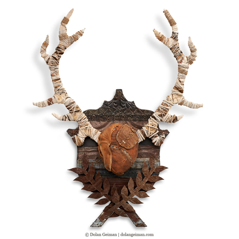 main image for Black Forest Stag Original Faux Taxidermy Antlers Wall Sculpture