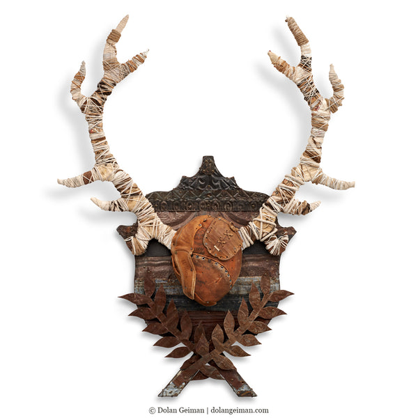 Black Forest Stag Original Faux Taxidermy Antlers Wall Sculpture