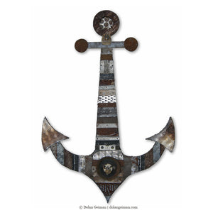 thumbnail for Blackbeards Anchor Nautical Metal Wall Sculpture