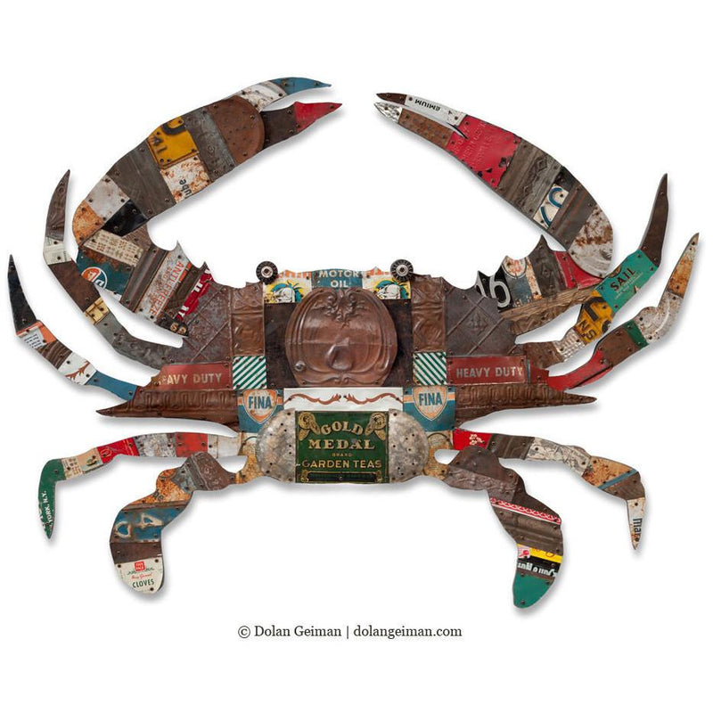 main image for Blue Crab Original Metal Wall Sculpture