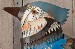 thumbnail for Blue Jay Metal Bird and Nest Wall Sculpture