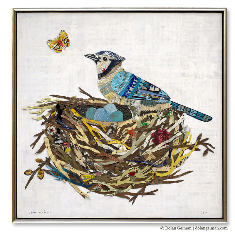 main image for Blue Jay in the Nest (Metal)