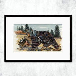 thumbnail for WHSL - Bosque Del Oso Bear Art Print
