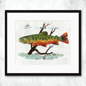 thumbnail for WHSL - Trout, Brook Art Print