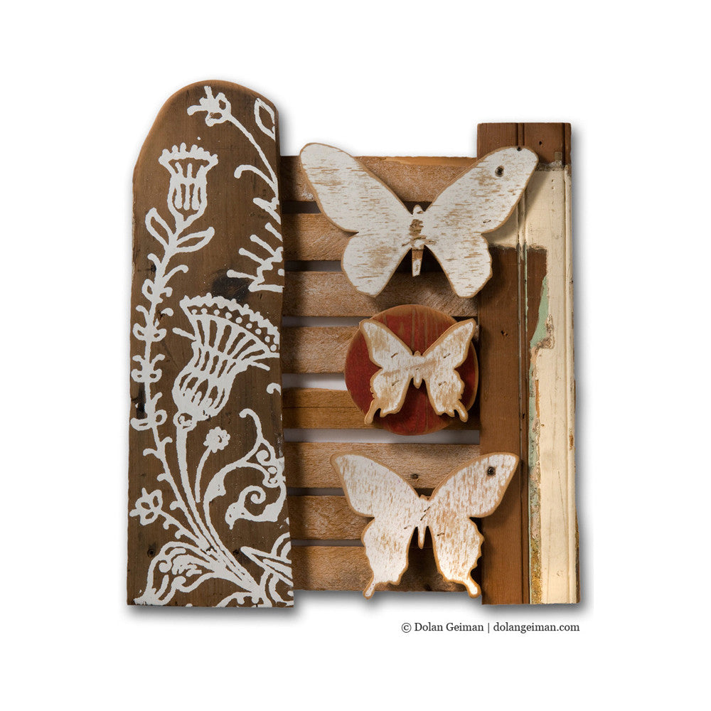 Rustic Butterfly and Barnwood Rescued Wood Construction