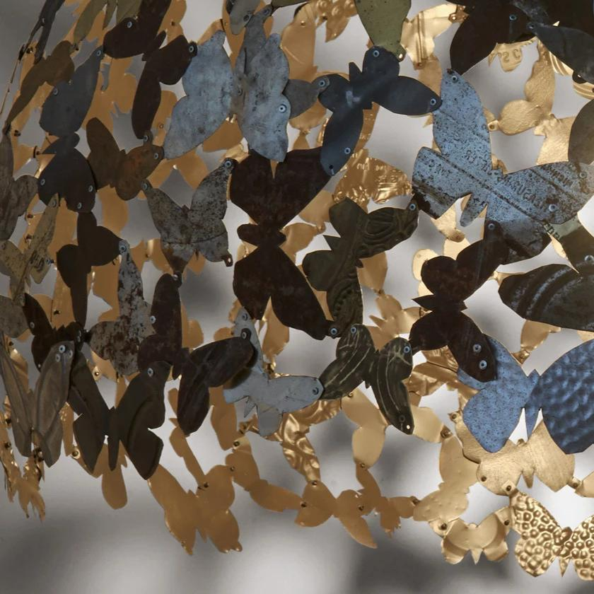 Industrial Metal Butterflies Chandelier