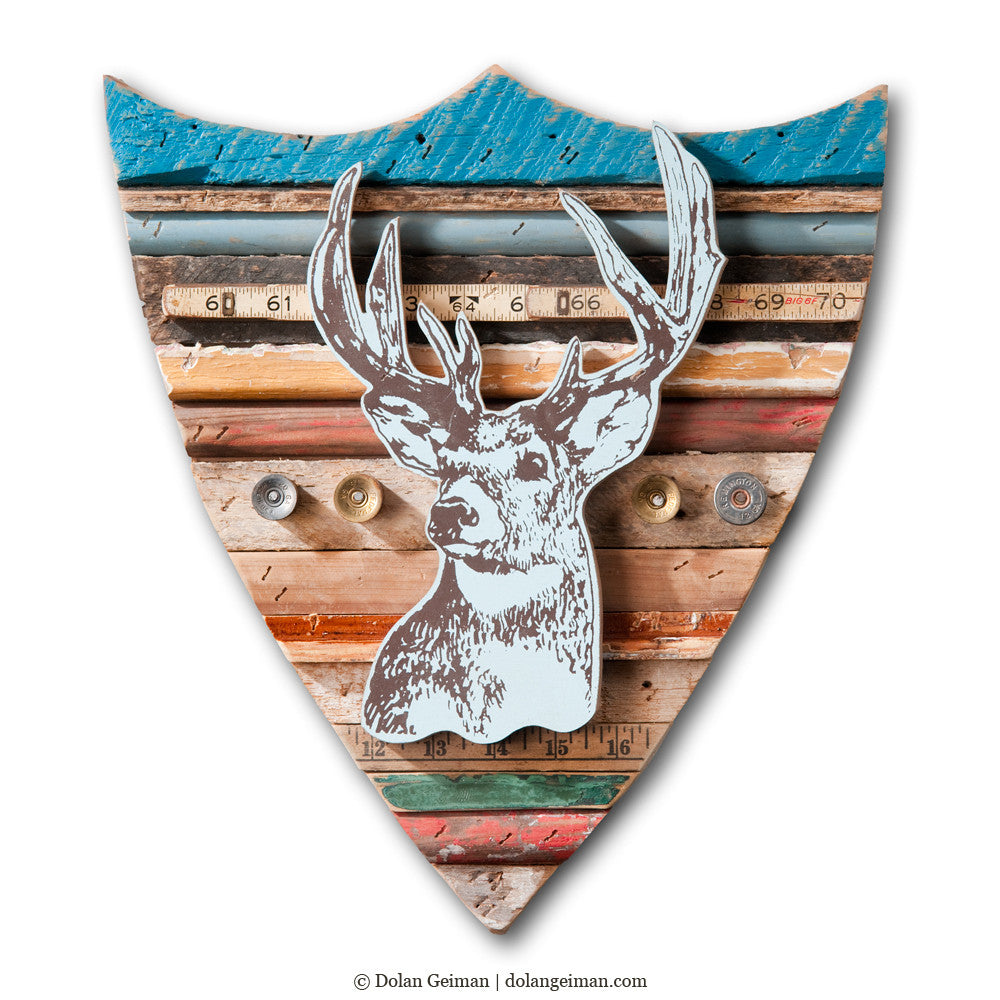 Trophy Deer Faux Taxidermy Rescued Wood Construction