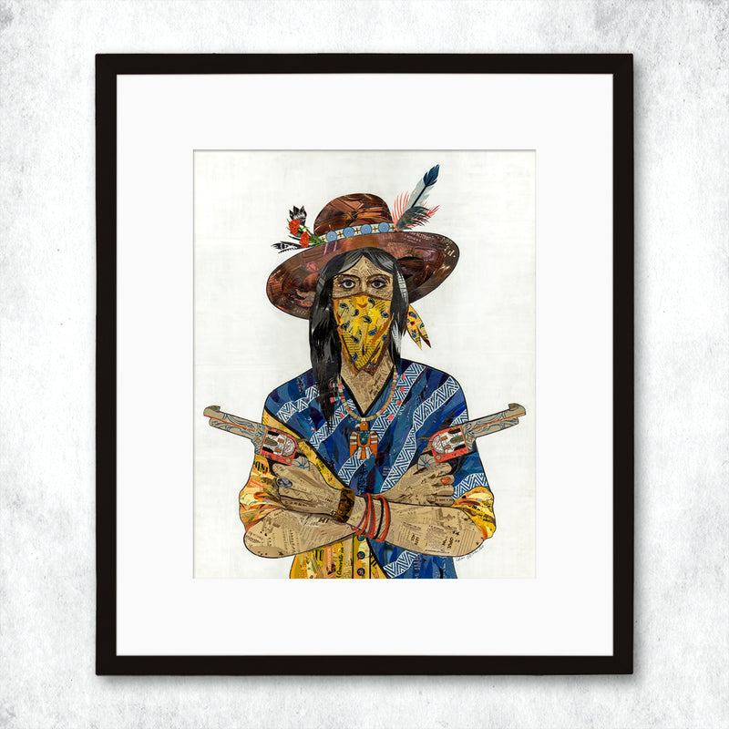 main image for WHSL - Cowgirl (Bandana) Art Print
