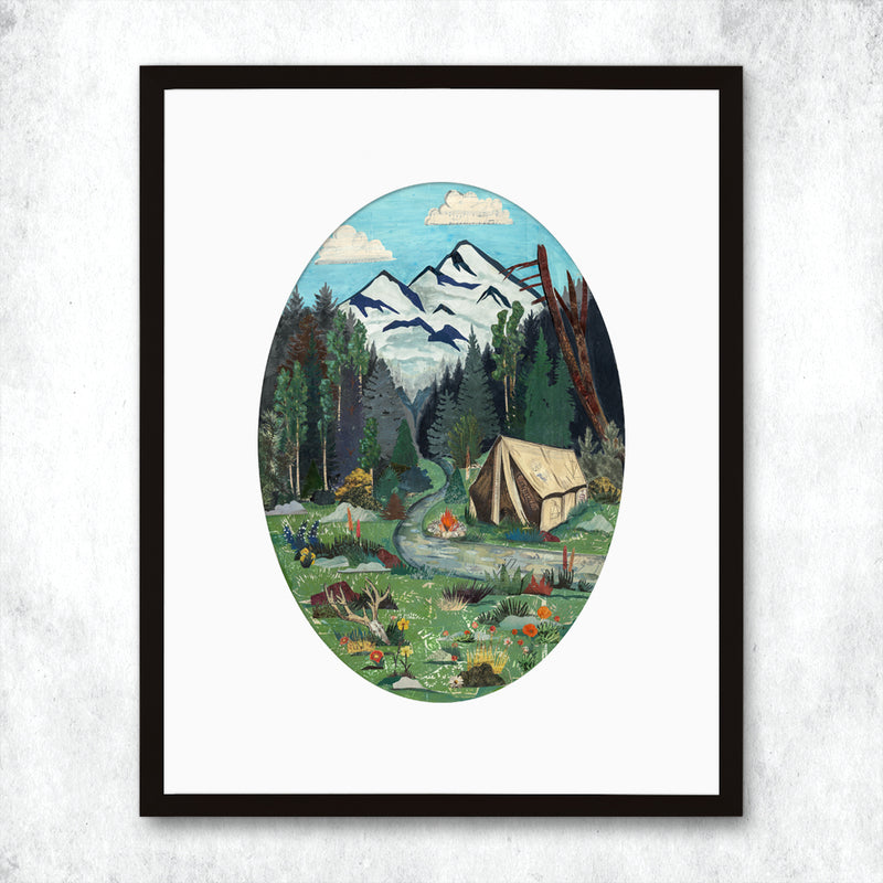 main image for WHSL - Camping Art Print