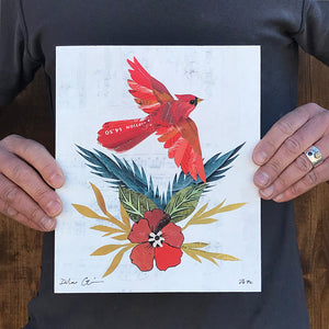 thumbnail for Small Works Event - Cardinal in Flight - Original by Dolan Geiman