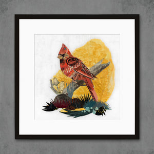 thumbnail for Cardinal on Branch Limited Edition Art Print