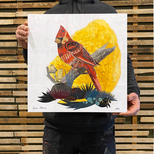 thumbnail for Small Cardinal on Branch Collage - Original by Dolan Geiman