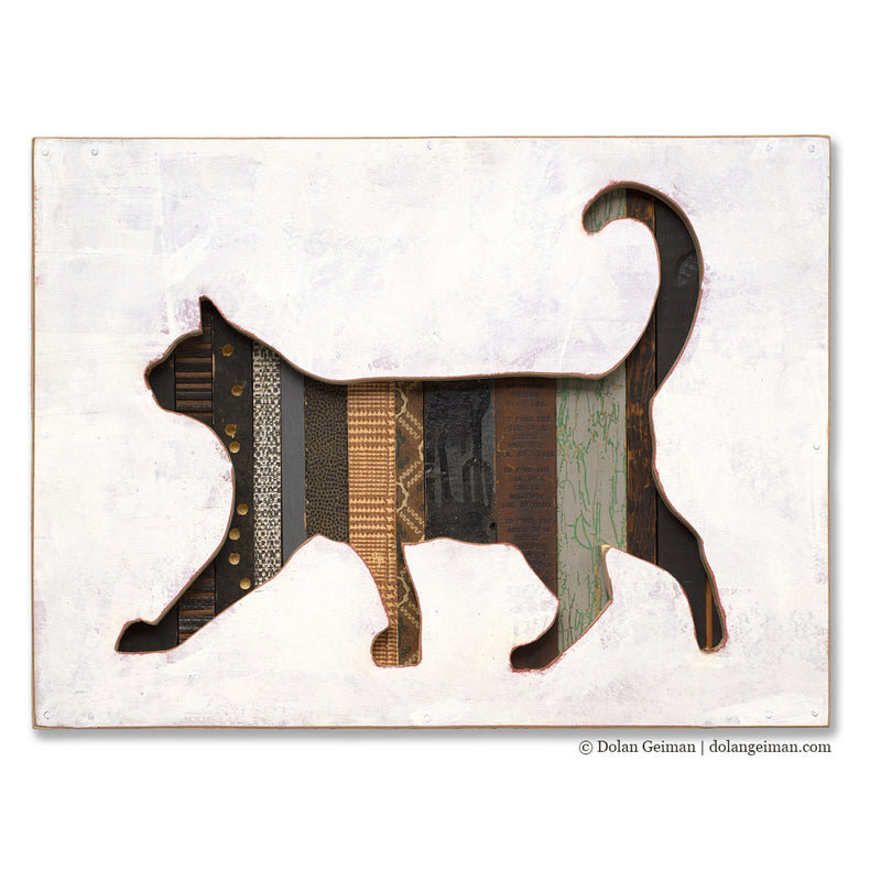 main image for Cat Silhouette Art in Mixed Media Wood