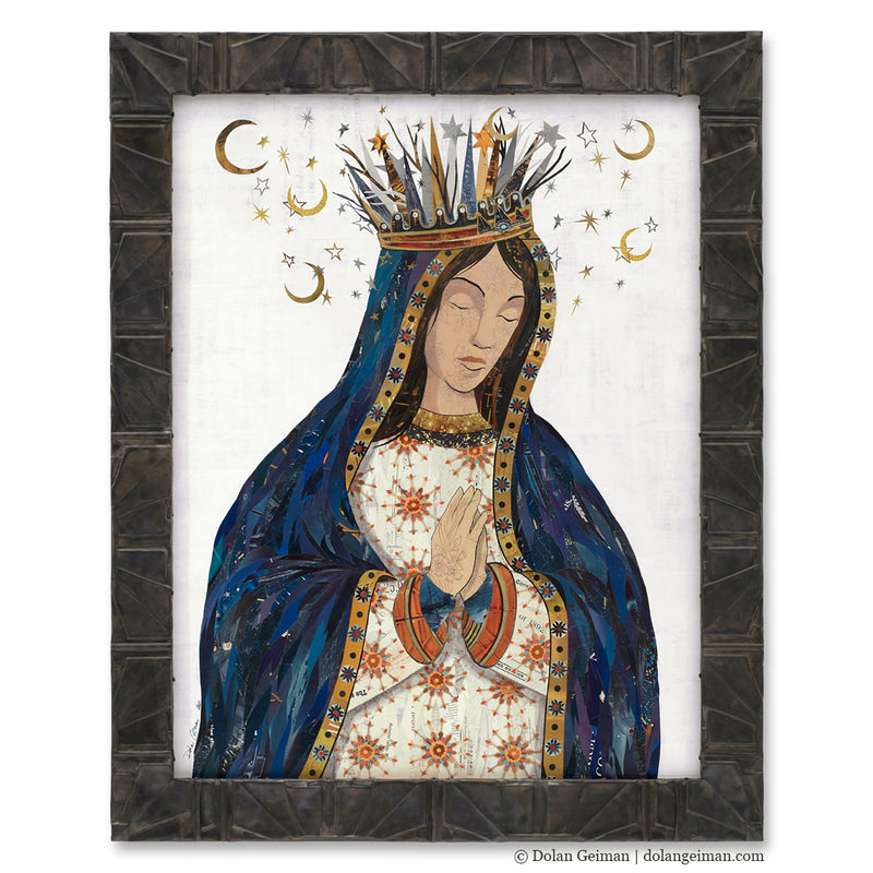 main image for Celestial Queen - Lady of Guadalupe II Original Paper Collage