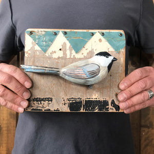 thumbnail for Small Works Event - Chickadee Wall Hanging - Original by Dolan Geiman