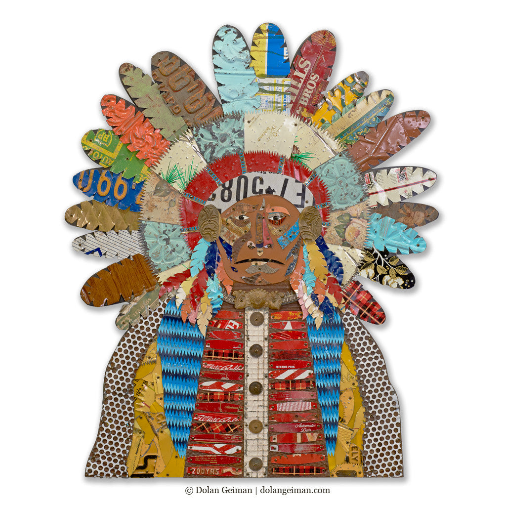 American Heritage Chief Wall Sculpture