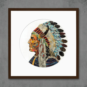 thumbnail for Wisdom and Courage Chief Limited Edition Native American Art Print