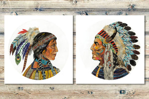 thumbnail for Wisdom and Courage Chieftess Limited Edition Native American Art Print