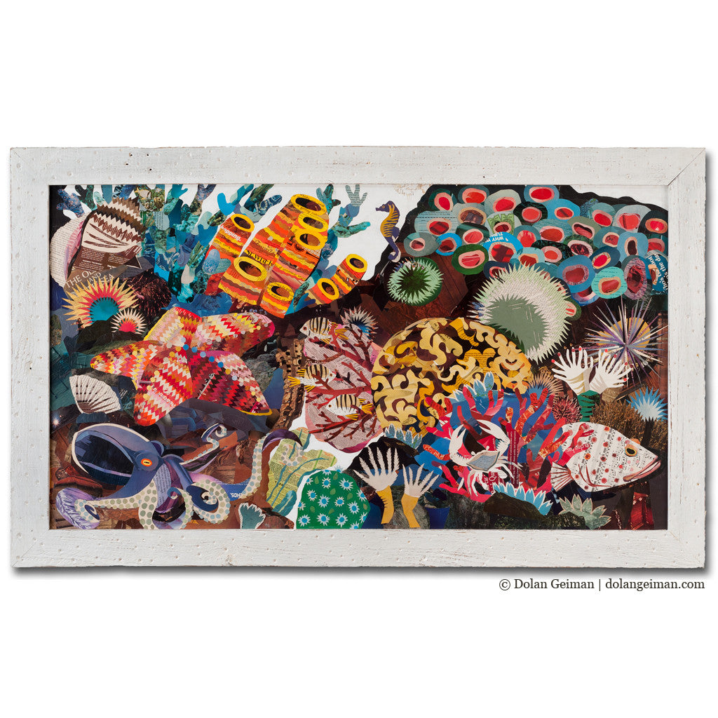Coral Reef Great Barrier Reef Paper Collage Art