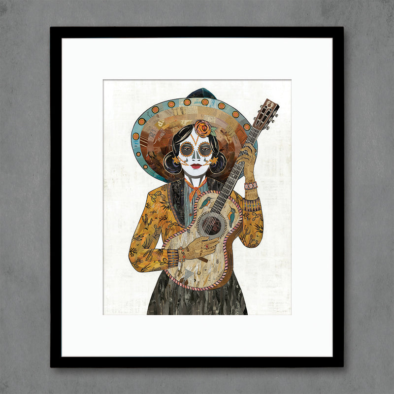 main image for Señorita (Hummingbird) Guitar Player Art Print