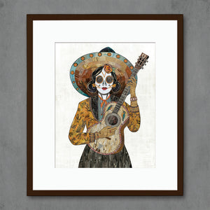 thumbnail for Señorita (Hummingbird) Guitar Player Art Print
