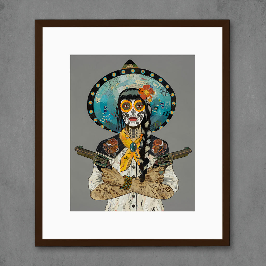 Cowgirl (Bison) Art Print