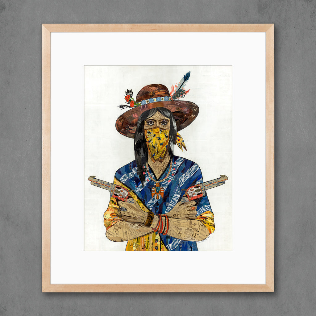 Cowgirl with Bandana Art Print