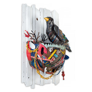 thumbnail for Crow in Nest 3D Wall Sculpture