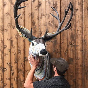 thumbnail for Great Plains Buck Deer Faux Taxidermy Metal Wall Sculpture