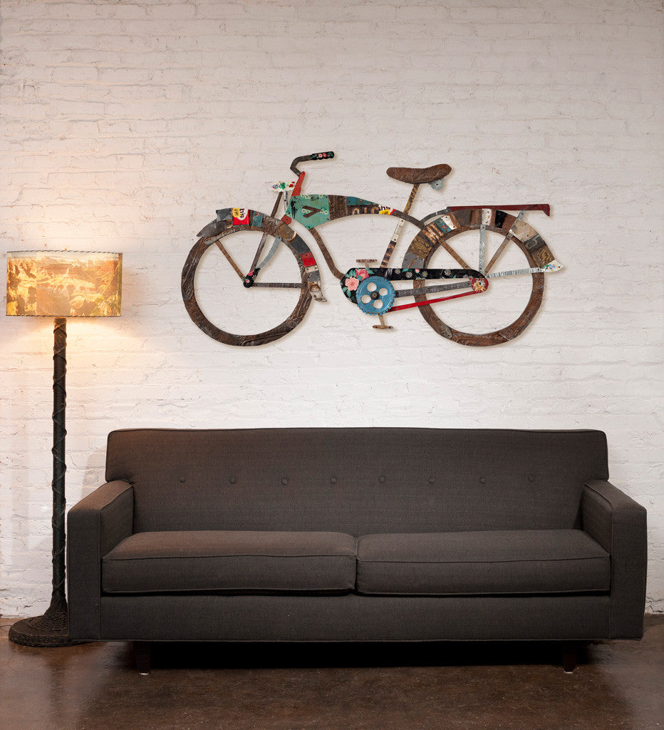 Bike Wall Art industrial bike wall art sculpture | dolan geiman