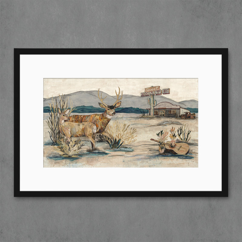 main image for Deer at the Desert Skate Art Print