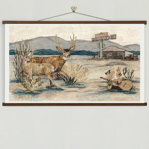 thumbnail for Deer at the Desert Skate Art Print
