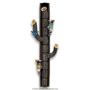 thumbnail for Desert Totem Cactus and Woodpecker Wall Sculpture