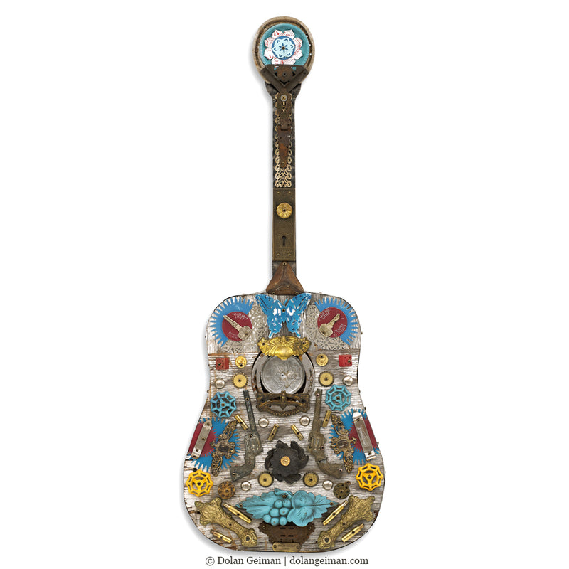main image for Songwriter Souvenir Acoustic Guitar with Butterfly