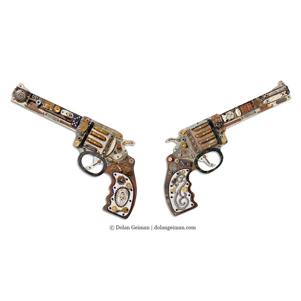 Industrial Wild West Mixed Media Revolver Set