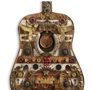 thumbnail for Dirty South Blues Mixed Media Guitar Art Assemblage