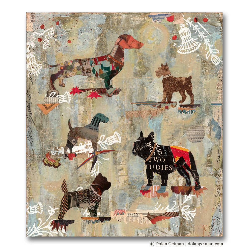 Dog Show Part II Mixed Media Art