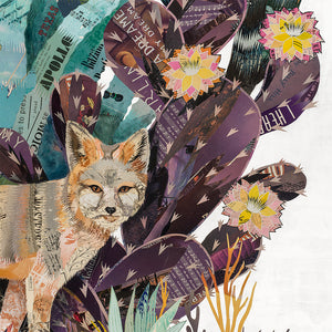 thumbnail for Land of the Kit Fox Original Paper Collage